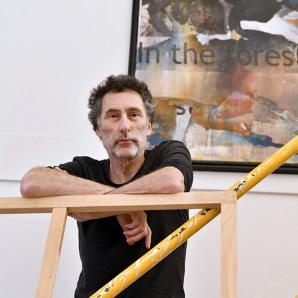 Bruce Clarke in his studio