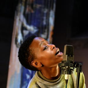 Rehearsal of the play, Unwanted by Dorothée Munyaneza