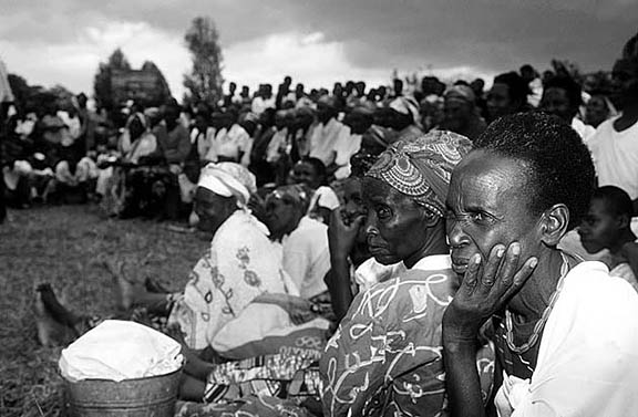 Meeting of the widows because of the genocide in Taba